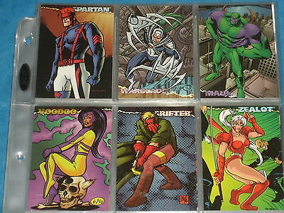 WILDSTORM 'Animated Series' Complete 135 Base Set Of Trading Cards Zealot,Maul