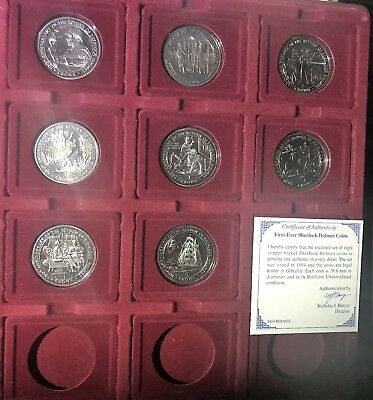Set of 8 - 1994 Gibraltar Rare Coin Return of Sherlock Holmes 100th Anniversary