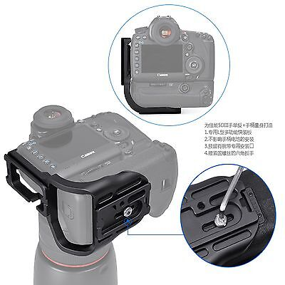 Quick Release L Bracket Plate Grip for canon 5DIII LBG Arca Swiss Compatible