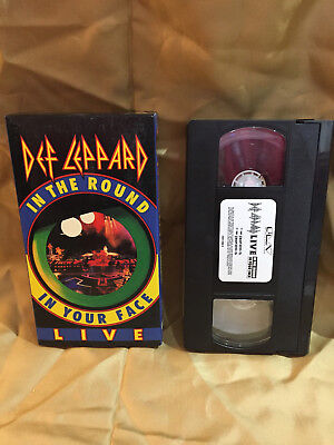 Def Leppard In the round in your face Live VHS