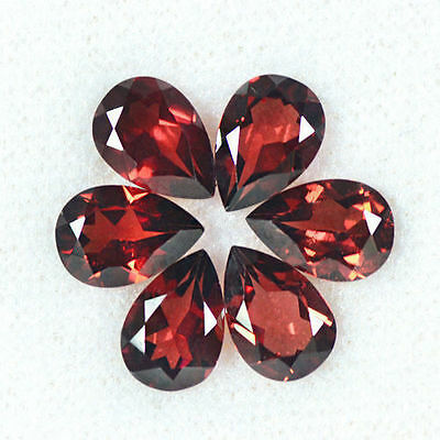 8.57 cts Natural Pyrope Red Garnet Loose Gemstone Pear Cut Lot Mozambique 9x6 mm