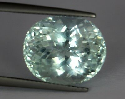 Flawless 14.05 Cts Natural Oval Blue Color Pakistan Aquamarine !No Reserve Price