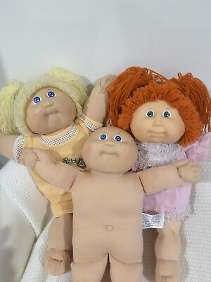 3 Cabbage Patch Dolls ,in very good condition