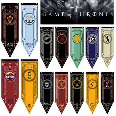 Fabric Poster Print Game of Thrones House Stark Banner Flag Decor 48*150CM