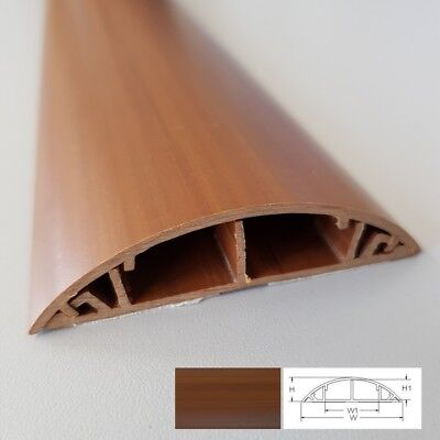 Floor Cable Channel 1M Self-adhesive 70mm wide for Dark Laminate Flooring
