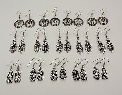 14Pcs. Lot Adorable 925 Silver Plated Very Classic Antique Earring KA9100