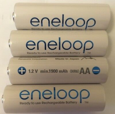 4x Panasonic Eneloop 1900 mAh Rechargeable Batteries AA FREE SHIPPING! Box 4