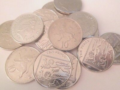 British 10p Ten Pence Coin Decimal Currency From 1968-2016