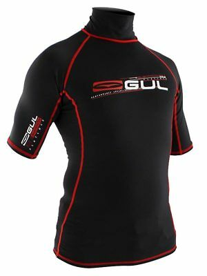 Gul Xola Rash Vest Wetsuit Surf Sail Canoe Kayak Black Uv Protection Medium