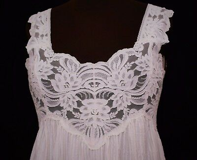 CHARNOS Ladies Sensual Lingerie Nightdress Chemise Lacy Sissy Hollywood TV 12 S