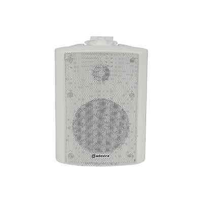 "4"" 20W Weatherproof Outdoor White Wall Speaker - 100V/8 ohm"