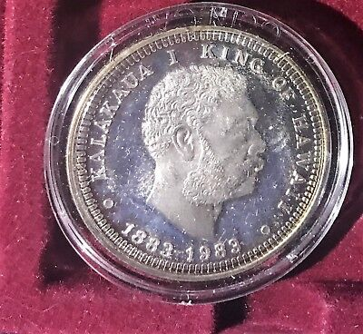1883-1983 Kalakaua I King Of Hawaii Commemorative Silver Proof Coin