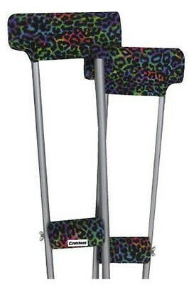 Underarm Crutch pads padded Covers set - Leopard Tie Dyed- Brand New