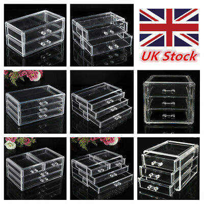 Cosmetic Organizer Clear Acrylic Makeup Case Drawers Box Jewelry storage Cabinet