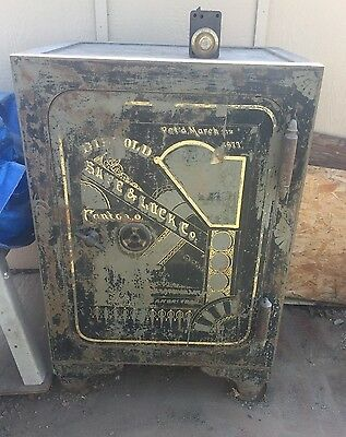 Large Antique Diebold Safe Ready For Restoration!