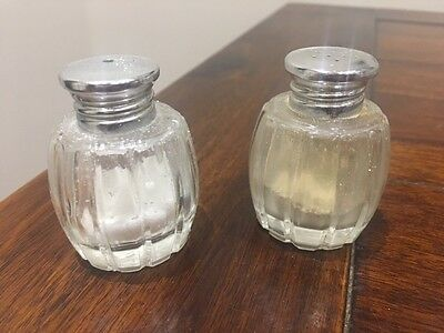 Vintage Stuart crystal - salt and pepper shakers - 50+ years old