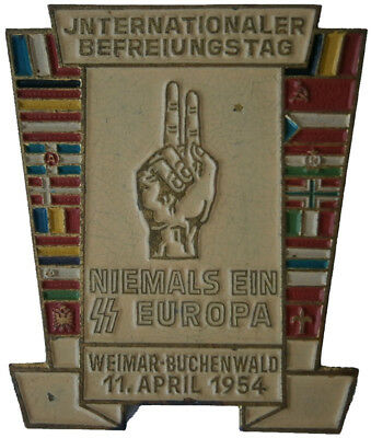 GERMANY Badge BUCHENWALD German concentration camp PIN Flags DDR Metal WW2 wwII