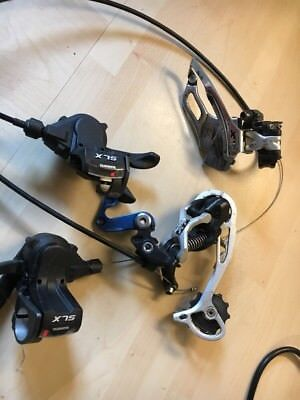 Shimano XT Gears Front/Rear gears And SLX shifter clamp mount Set.
