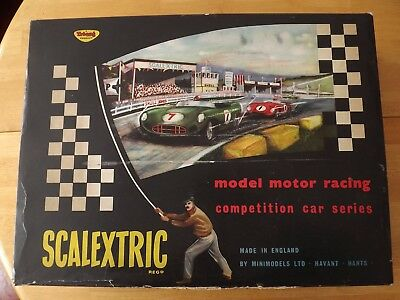 Scalextric Cm33 Set. Jaguar & Porsche