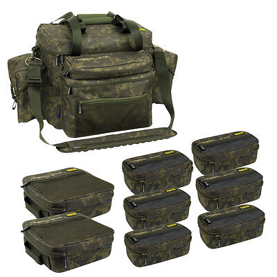 Shimano Tribal XTR Compact System Camo Carryall + 8 Accessory Bags NEW