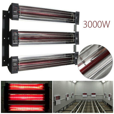 3000W Spray Baking Booth Infrared Paint Curing Heater Dryer Heating Lamp Lights
