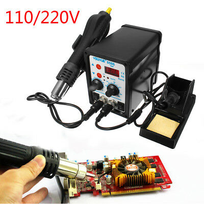 YOUYUE 8586 2-in-1 SMD Rework Soldering Station Solder Iron+Hot Air Gun