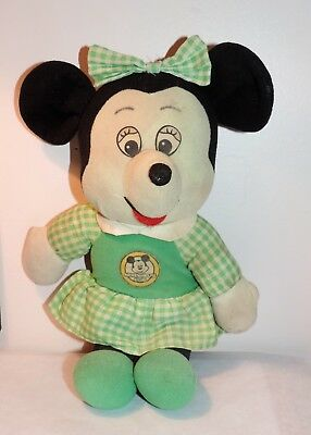 Minnie Mouse by Knickerbocker Cute Face Lovable Smile Plush