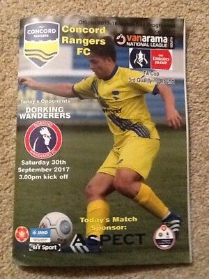 2017/18 CONCORD RANGERS V DORKING WANDERERS FA CUP 3rd QUALIFYING ROUND