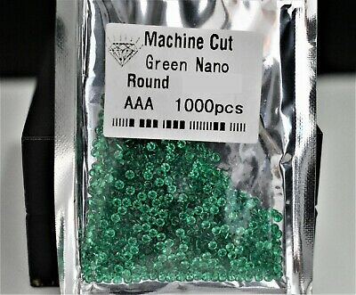 Green Nanocrystal Round Brilliant Cut SIZE CHOICE Loose Stones WHOLESALE