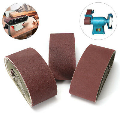 1/3/5/10pcs 533x75mm Sanding Belt 40~1000 Grit Abrasive Belts Polishing Tool New