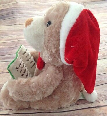 Twas The Night Before Christmas Bear Plush Animated Talking Sing Sound N Light