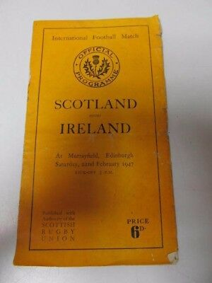 International Football Match Scotland v Ireland 1947 Official Programme