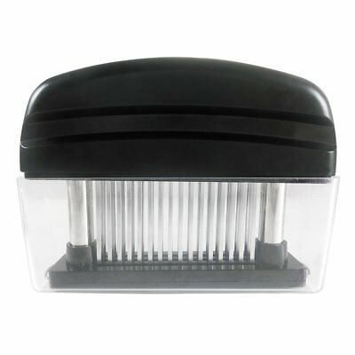 Meat Tenderizer with 48 Stainless Steel Blades Black Kitchen Tool for Beef