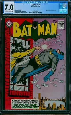 Batman # 168  The Fight that Jolted Gotham City !  CGC 7.0  scarce book !