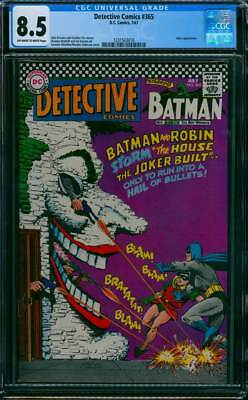 Detective Comics # 365  The House the Joker Built !  CGC 8.5  scarce book !!