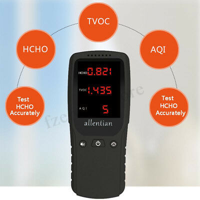 Formaldehyde Detector HCHO TVOC AQI Meter Air Gas Quality Monitor Tester Indoor