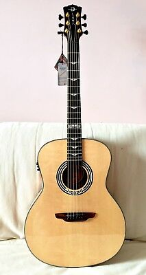 Splendide Guitare Folk Electro-acoustique Dreadnought Luna Guitars ART DECO