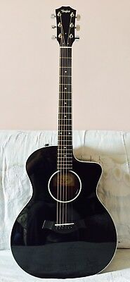 Splendide Guitare Electro-Acoustique Taylor 214CE BLK DLX GRAND AUDITORIUM BLACK
