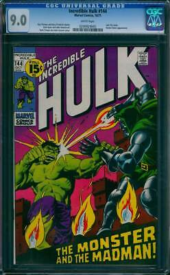 Incredible Hulk # 144  The Monster and the Madman !  CGC 9.0 scarce book !