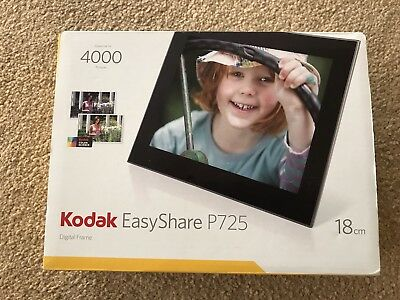 "Kodak EasyShare P725 7"" Digital Picture Frame, Stores up to 4000 Photos  - Boxed"