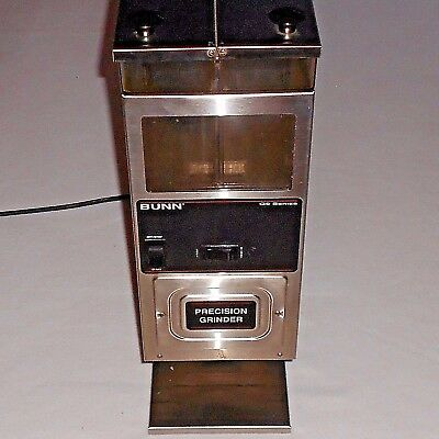 Commercial COFFEE GRINDER BUNN G9-2 HD STAINLESS STEEL w/ 2 COFFEE-BEAN HOPPERS