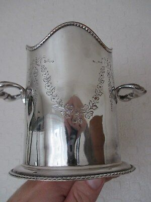 Beautiful Antique Silver Plated Champage Bucket - Wine Cooler possibly French