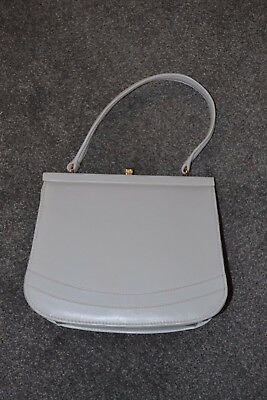 Vintage 1950s off white top handle structured handbag - Beautiful condition