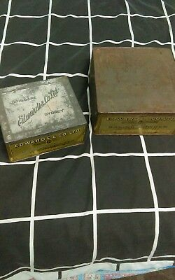 Edwards and co old biscuit tins
