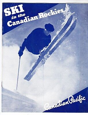 1937 VINTAGE TRAVEL BROCHURE Ski in the Canadian Rockies - good condition