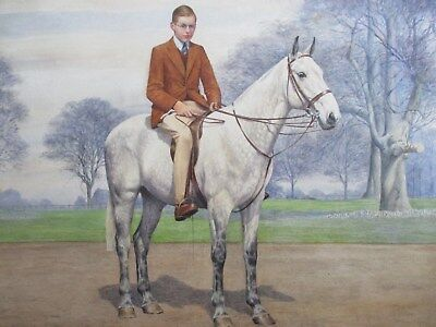 Equestrian Watercolour Painting - Listed Artists Dorothy and Elizabeth Alderson