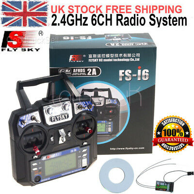 Flysky FS-i6 AFHDS 2A 6CH Radio System Transmitter Receiver for RC Plane UK POST