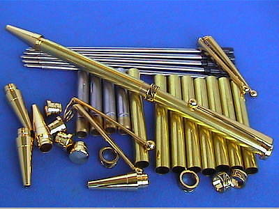 Woodturning slimline Aztec Pen or pencil Kits Gold/Chrome/Gun Metal