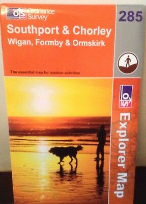 Ordnance Survey Explorer Map 285: Southport/Chorley/Wigan...