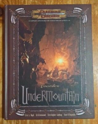 Expedition to Undermountain (Dungeons & Dragons), campaign adventure levels 1-10